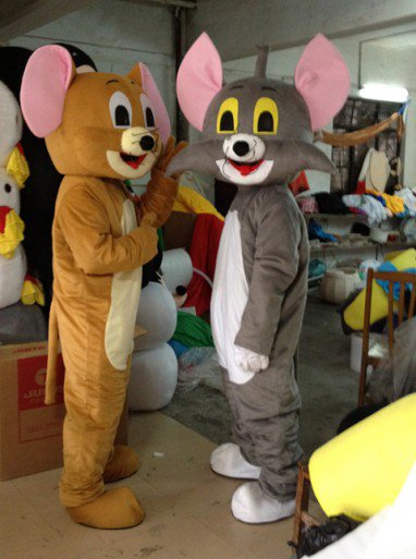 Lucky Cat Mouse Cartoon Doll Performances Performances Clothing Props Apparel Clothing Mascot Costume