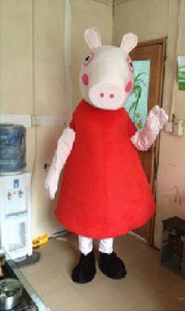 Pink Pig Cartoon Costumes Cartoon Doll Doll Pink Pig Cartoon Doll Clothing Sale Mascot Costume