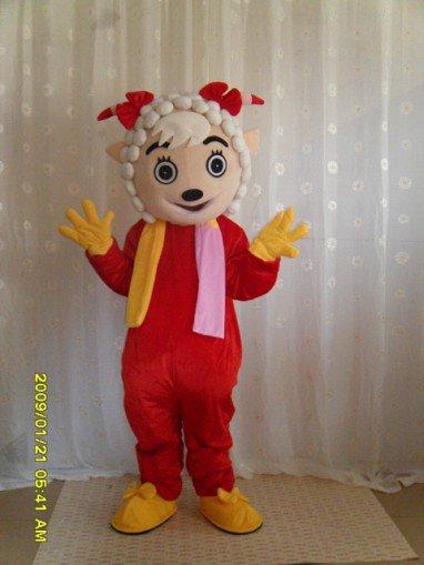 Radiant Beautiful Sheep Cartoon Costumes Performing Apparel Clothing Performance Radiant Beauty Frankie Mascot Costume