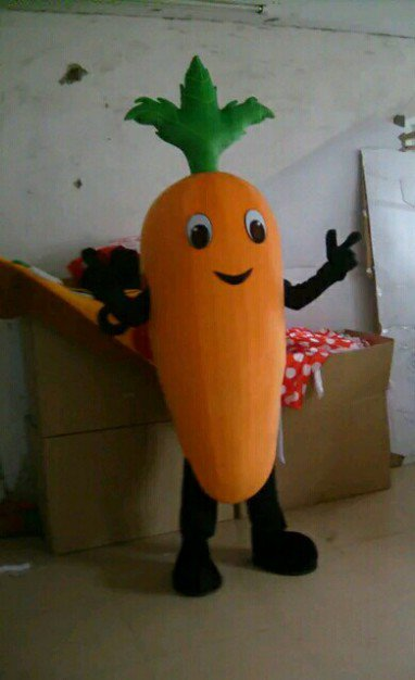 Carrot Vegetables Carrot Cartoon Walking Doll Clothing Doll Clothing Cartoon Doll Cartoon Costumes Props Mascot Costume
