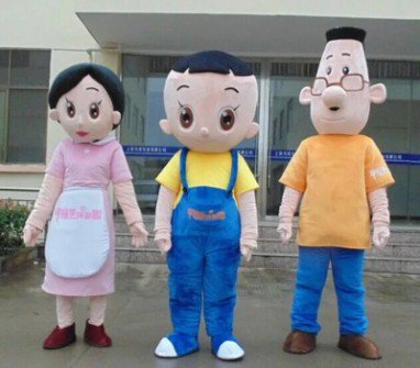 Cartoon Costumes Cartoon Doll Clothing Aprons Bulk of The First Father Son Mother Doll Doll Clothes Adult Line Mascot Costume