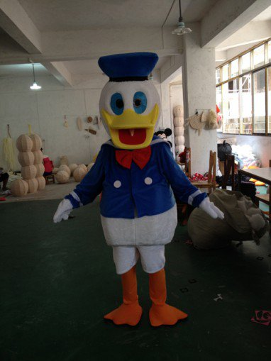 Donald Duck Cartoon Costumes Perform Performance Apparel Clothing Cartoon Donald Duck Cartoon Duck Paradise Mascot Costume