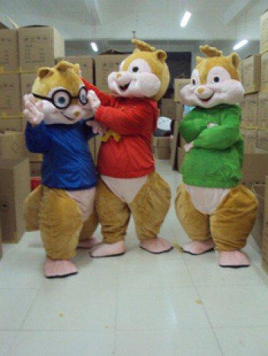 Cartoon Doll Clothing Walking Performances Doll Clothes Adult Squirrel Squirrel Elf Doll Baby Chipmunks Mascot Costume