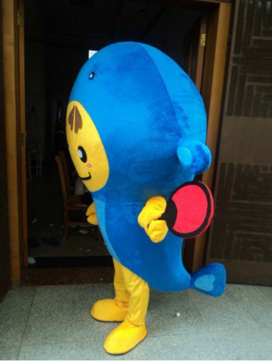 Aquarium Hoods Dolls Walking Cartoon Show Clothing Apparel Small Goldfish Fish Deep Sea Fish Clothing Mascot Costume