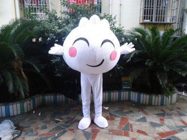 Adult Cartoon Mascot Costume Headgear Bakery Steamed Dumplings Show Performances Doll Clothing
