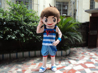 Image Mascot Costume Suit Adult Activities Show Clothes Haier Brothers Cartoon Character Clothes