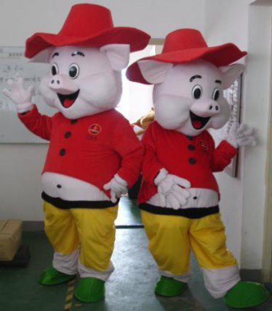Pig Man of The Rescue Team Who Wear Adult Toys Dolls Walking Clothing Cartoon Costumes Wigs Mascot Costume