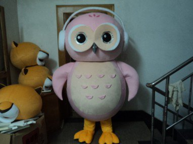 Plush Animal Cartoon Doll Clothing Performances Props with Adult Eagle Owl Caps Clothing Mascot Costume