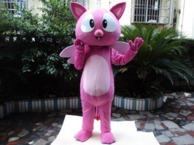 Cartoon Mascot Animal Shaped Wings To Fly Publicity Campaign Cat Cute Cat Doll Clothing Mascot Costume