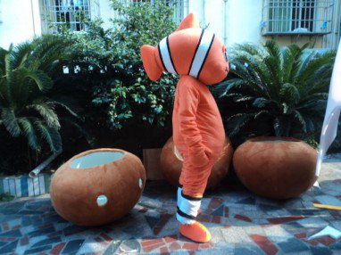 Cartoon Doll Clothing Benthic Fauna Fish Mascot Performance Clothing Walking Cartoon Clownfish Shark Muyu Mascot Costume