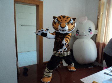 Zodiac Mascot Costume Adult Cartoon Show Props Walking Dolls Doll Clothing Kung Fu Tiger