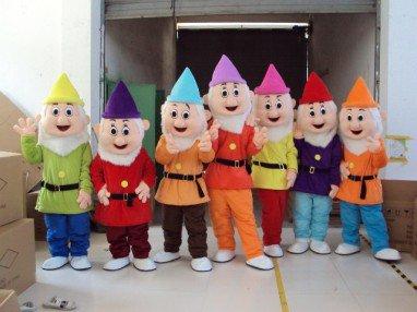 Cartoon Doll Clothing Adult Fairy Tale Drama Performances Costumes Walking Seven Dwarfs Snow White Mascot Costume
