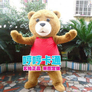 Events Outdoor Activities Bear Cartoon Bear Clothing Ted Teddy Plush Dolls Wearing Clothes Convincing Puppets Mascot Costume