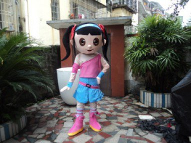 Photo Female Doll Doll Clothing Walking Cartoon Dolls Adult Mascot Costumes Performing Props