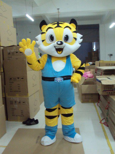 Simulation Dressing Obediently Tiger Tiger Tiger Kung Fu Cartoon Show Clothing Anli Hu Doll Headgear Mascot Costume