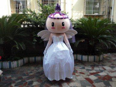 Wedding Photography Cartoon Dolls Clothing Walking Props Costumes Bride Wedding Gifts Wings Elf Mascot Costume