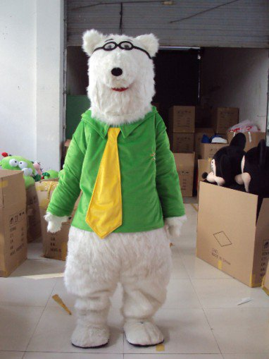 Adult Polar Bear Walking Panda Cartoon Costume Props Cartoon Doll Clothing Hairy Panda Jingjing Mascot Costume