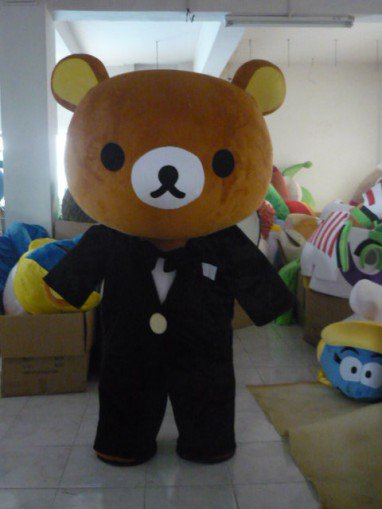 Adult Walking Lazy Bear Easily Bear Cartoon Clothing Costumes Mascot Costume