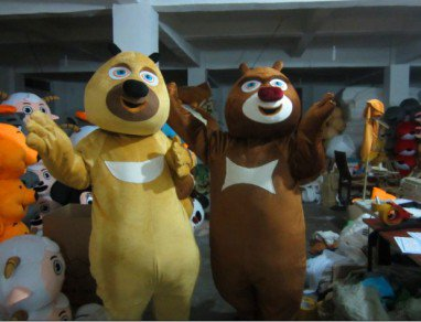 Bear Spotted Bald Strong Cartoon Costume Cartoon Doll Costume Bear Bear Two Costume Mascot Costume