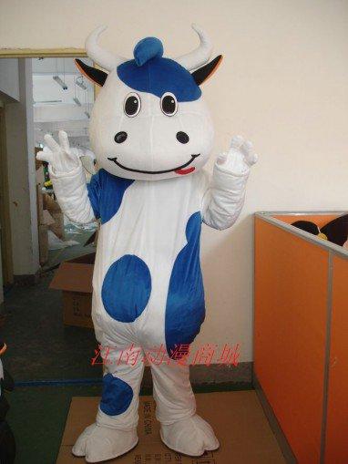 Mengniu Dairy Cattle Adult Cartoon Costumes Walking Performances Doll Clothing Props Kaka Cattle Mascot Costume