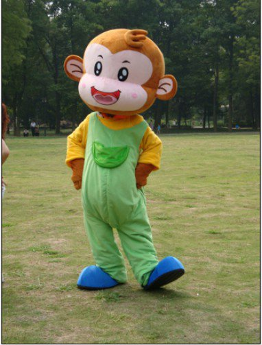 Monkey Cartoon Clothing Cartoon Dolls Walking Cartoon Costumes Stage Performance Clothing Props Cute Monkey Mascot Costume