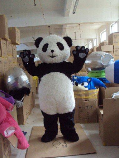 Panda Long Mao Jingjing The Panda Adult Cartoon Clothing Walking Cartoon Panda Costumes Mascot Costume