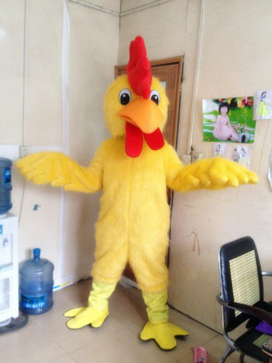 Rooster Cartoon Clothing Cartoon Dolls Walking Cartoon Costumes Stage Performance Clothing Hairy Big Yellow Chicken Mascot Costume