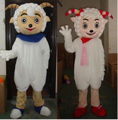 Sheep Mascot Cartoon Costume Performance Clothing Color Radiant Beauty Frankie Frankie Slow Mascot Costume