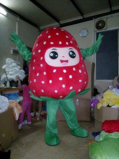 Strawberry Fruit Cartoon Clothing Walking Cartoon Doll Clothing Doll Clothing Cartoon Costumes Strawberry Fruit Mascot Costume