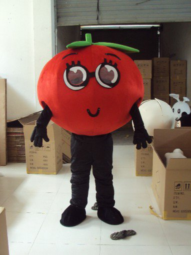 Tomatoes Fruits and Vegetables Cartoon Costumes Walking Cartoon Dolls Dolls Tomato Theatrical Performances Advertising Mascot Costume