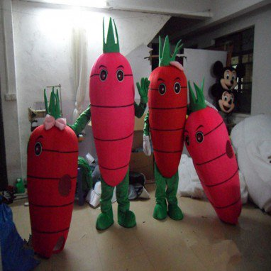 Vegetable Carrot Cartoon Mascot Costume Suit Costume Props Stage Performance Advertising Carrots