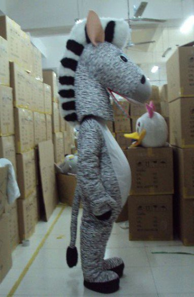 Zodiac Horse Mascot Costume Cartoon Animation Props Zebra