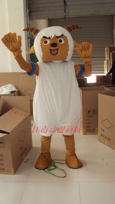 Film and Television Animation Cartoon Costume Props Radiant Lazy Slow Warm Goat in Goat Mascot Costume
