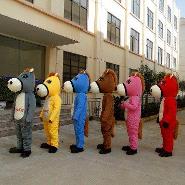 Horse Mascot Doll Clothing Clothing Shopping Marca Through Propaganda Props Madaochenggong Mascot Costume