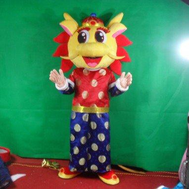 Opening Ceremony Dragon Mascot Dolls Walking Cartoon Doll Clothing Cartoon Show Clothing Zodiac Dragon Mascot Costume