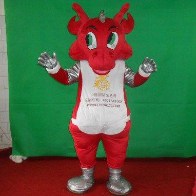 Red Dragon Cartoon Doll Clothing Cartoon Walking Doll Clothing Cartoon Show Clothing Zodiac Dragon Plush Doll Clothes Mascot Costume