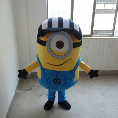The New Cartoon Dolls Clothing Small Yellow People Despicable Me 2 Despicable Me Huang Doudou Paragraph Hat Doll Clothes Mascot Costume