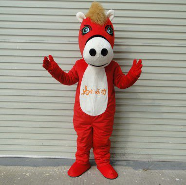Maca Horse Mascot Doll Clothing Doll Clothes Through Performances Props Adult Animation Clothing Mascot Costume