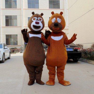 Xiong Xiong Erguang Head Strong Bear-infested Cartoon Doll Clothing Walking Cartoon Cartoon Dolls Clothing Mascot Costume