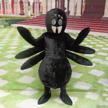 Cartoon Doll Clothing Cartoon Walking Doll Cartoon Props Performance Clothing Performance Clothing Black Spider Mascot Costume