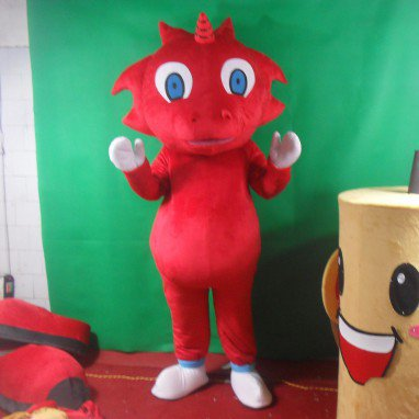 Cartoon Doll Clothing Cartoon Walking Doll Clothing Cartoon Show Clothing Doll Clothes Red Dragon Mascot Costume