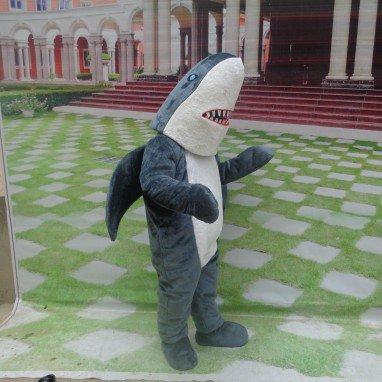 Cartoon Doll Clothing Cartoon Walking Doll Doll Dress Costumes and Cartoon Shark Mascot Costume