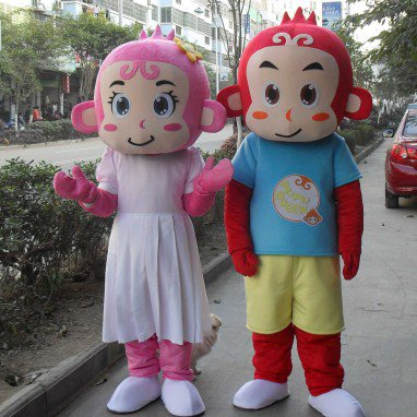 Monkey Cartoon Doll Clothing Cartoon Walking Doll Clothing Cartoon Show Clothing Cartoon Couple Doll Clothes Mascot Costume