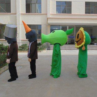 Zombies Cartoon Doll Clothing Iron Barricades Adult Walking Zombie Peas Sunflower Costume Mascot Costume