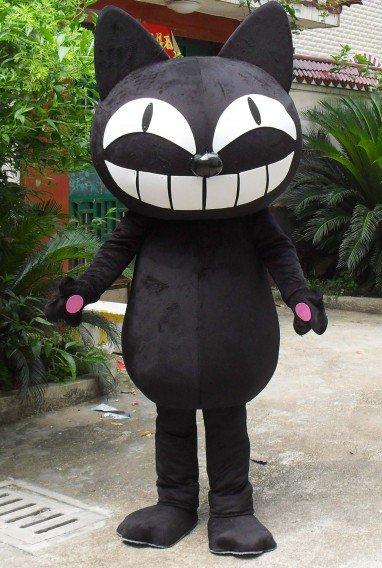 Black Cat Cartoon Doll Clothing Cartoon Walking Doll Cartoon Costumes Performance Clothing Doll Clothes Mascot Costume