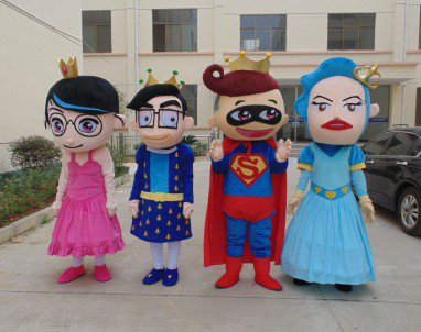 Cartoon Doll Clothing Cartoon Characters Walking Doll Cartoon Costumes Performing Family Portrait Mascot Costume