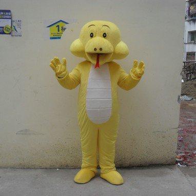 Cartoon Doll Clothing Cartoon Walking Doll Clothing Cartoon Show Clothing Plush Dolls Doll Clothes Yellow Snake Mascot Costume