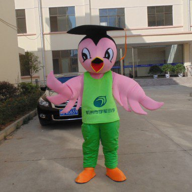 Advertising Props Stage Performances Corporate Mascot Doll Animal Doll Birds See Through Clothing Mascot Costume