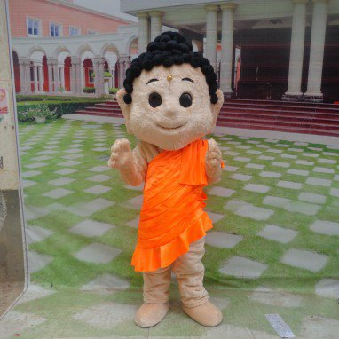 Cartoon Mascot Character Cartoon Walking Doll Clothing Doll Clothing Cartoon Show Clothing Doll Clothes Buddha Mascot Costume