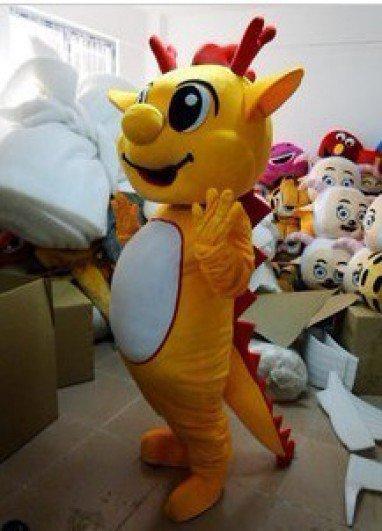 Cartoon Doll Clothing Cartoon Zodiac Dragon Mascot Cartoon Costumes Huanglong Long Mascot Costume